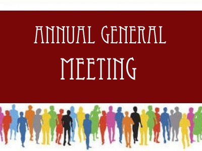 Annual General Meeting</br>on Wed 30 January 2019</br>Starts at 19:30